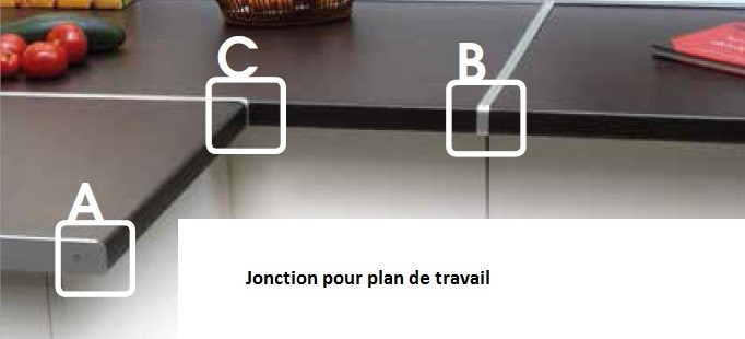 profil bordure plan de travail la quincaillerie du meuble. Black Bedroom Furniture Sets. Home Design Ideas