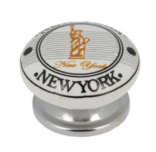Bouton porcelaine NEW YORK   B0465/S