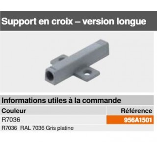 Support en croix  long pour TIP-ON Blum